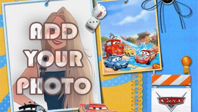 Photo of cars toon kids cartoon photo frame