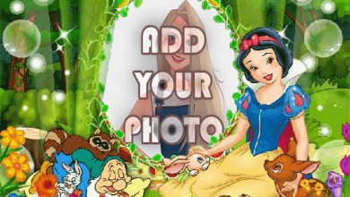 Photo of cute snow white kids cartoon photo frame