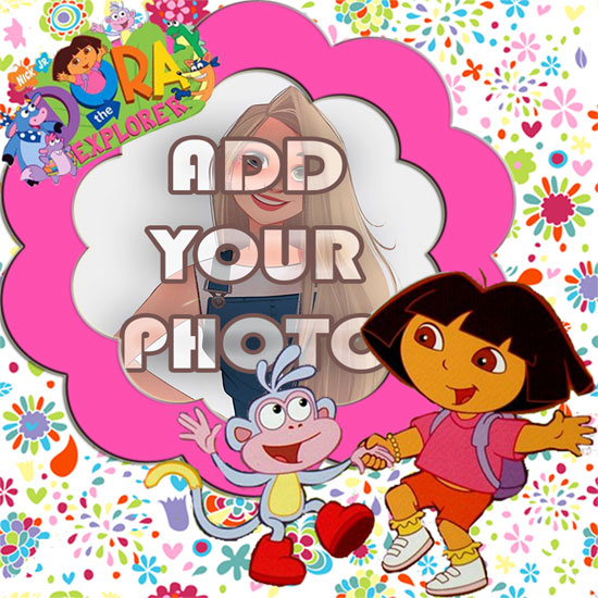 dora friends kids cartoon photo frame - dora friends kids cartoon photo frame