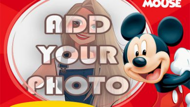 Photo of fun mickey mouse kids cartoon photo frame