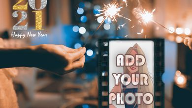 Photo of happy new year 2021 photo frame with new hopes