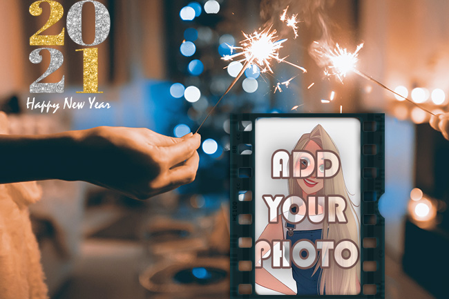 happy new year 2021 photo frame with new hopes - happy new year 2021 photo frame with new hopes