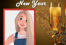 Photo of happy new year drink photo frame