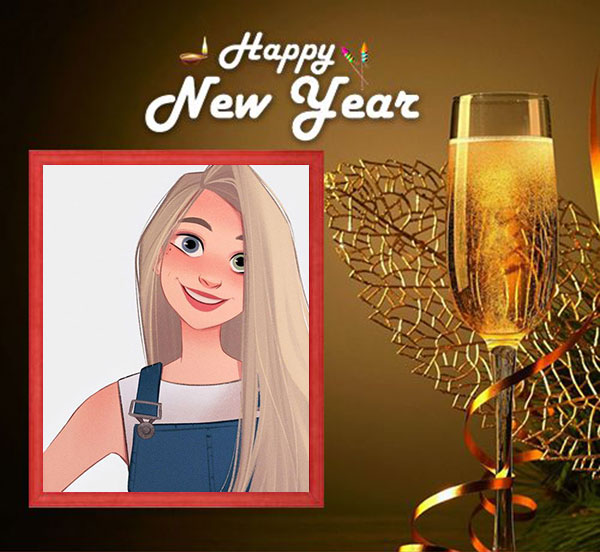 happy new year drink photo frame - happy new year drink photo frame