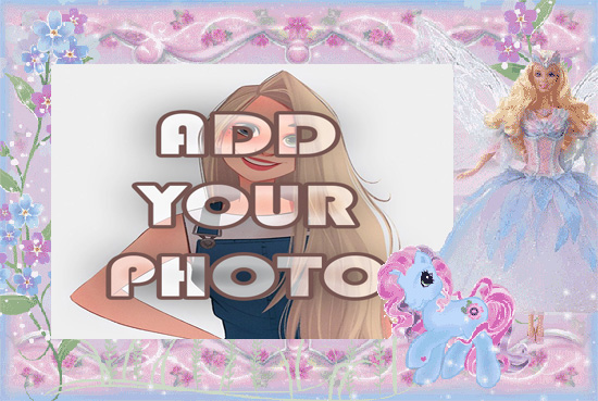 horse of nice fairy kids cartoon photo frame - horse of nice fairy kids cartoon photo frame