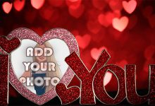 Photo of i love you with romantic light Romantic photo frame