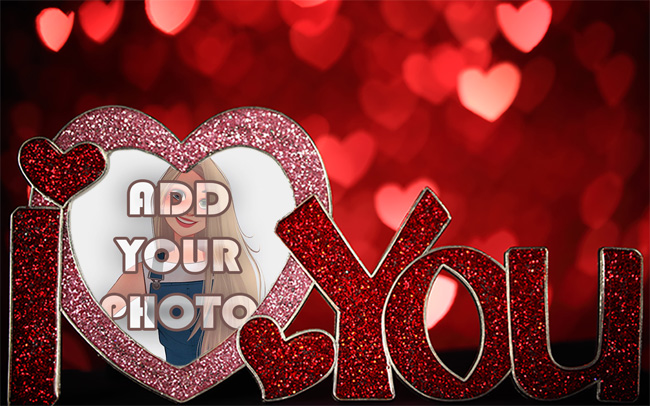 i love you with romantic light Romantic photo frame - i love you with romantic light Romantic photo frame