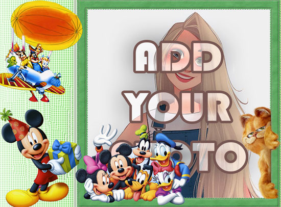 mickey mouse party kids cartoon photo frame - mickey mouse party kids cartoon photo frame