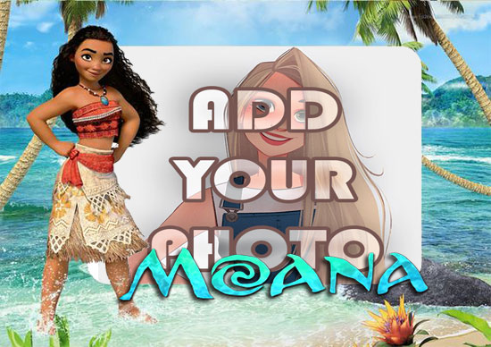 moana beach kids cartoon photo frame - moana beach kids cartoon photo frame