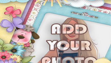 Photo of my album kids cartoon photo frame
