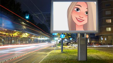 Photo of night street advertisement misc photo frame