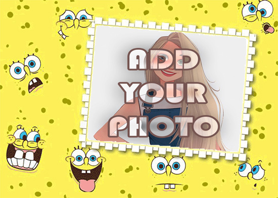 spongebob funny smile kids cartoon photo frame - spongebob funny smile kids cartoon photo frame
