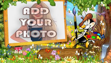 Photo of the Artist Bee kids cartoon photo frame