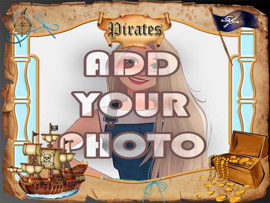 the Pirates kids cartoon photo frame - the Pirates kids cartoon photo frame