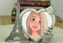 Photo of two heart photo frame