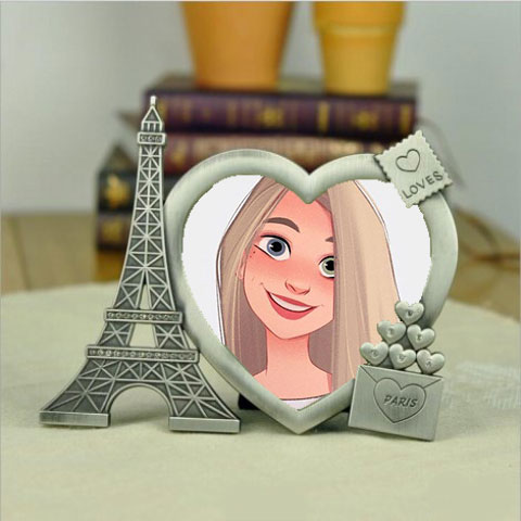 two heart photo frame - two heart photo frame