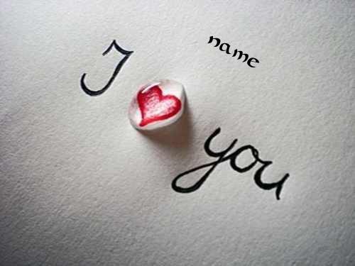 Photo of write your name on i love you diamond heart