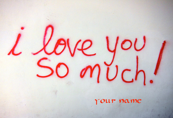 Photo of write your name on i love you so much