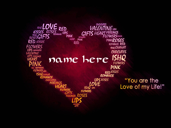 Photo of Write your name on a heart love quotes