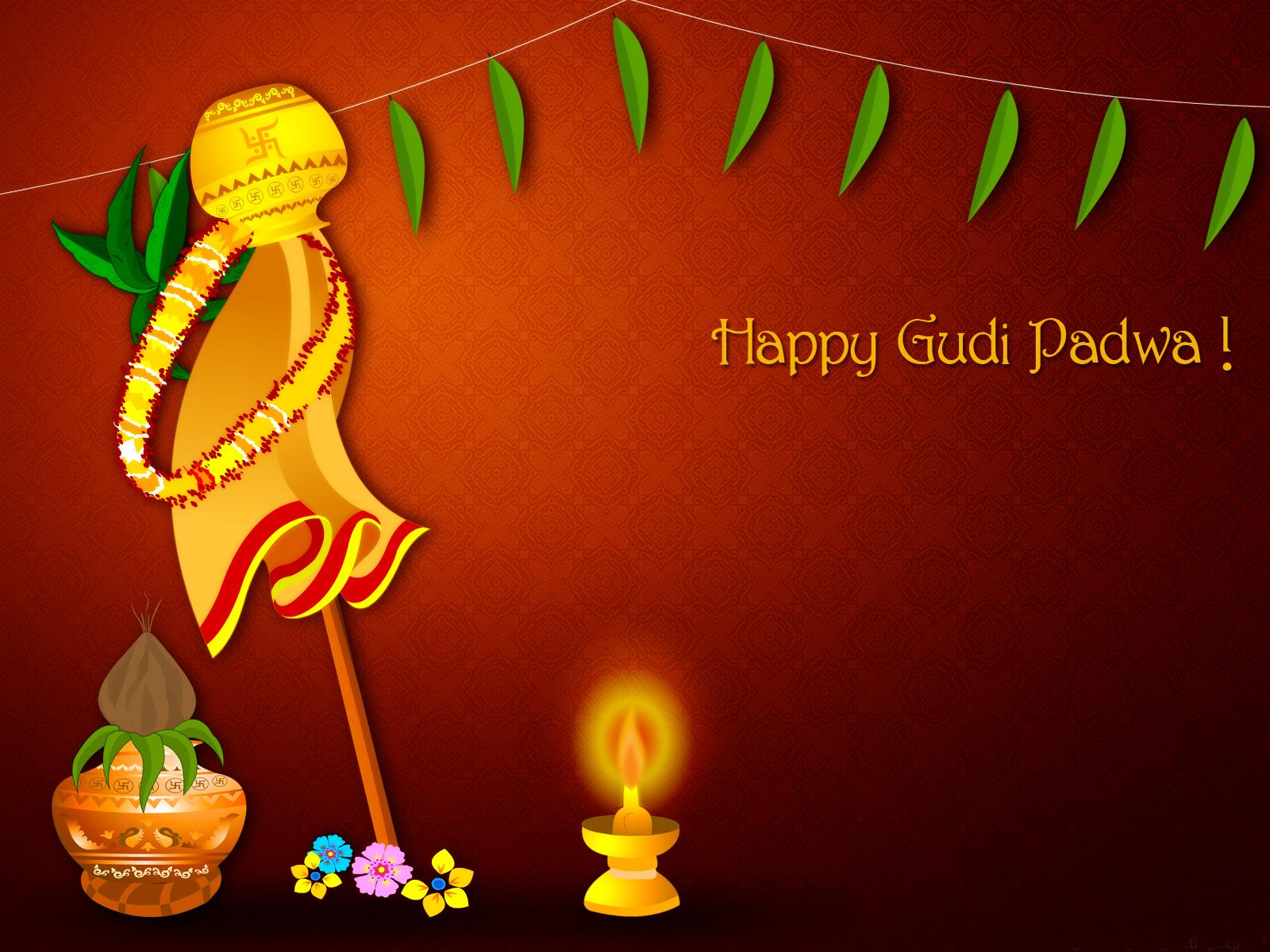 Photo of Write any name on happy Gudi Padwa