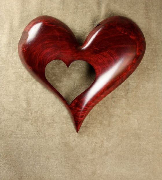 Photo of Write name on Red Heart Wood