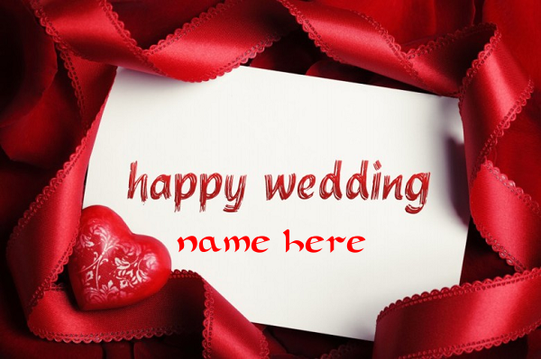 Photo of Write name on Happy Wedding