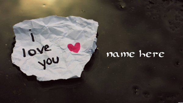 Photo of write your name on i love you paper