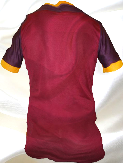 Photo of write your name and Your favorite number on gif AC Roma back shirt