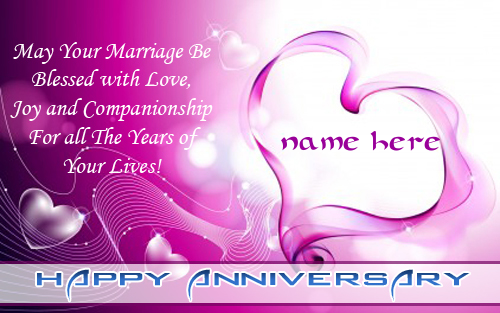 Photo of Add name on Happy Anniversary quote