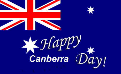 Photo of Happy Canberra day wishes with name
