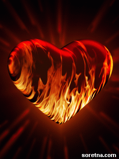 Photo of write your name on love on fire gif photo