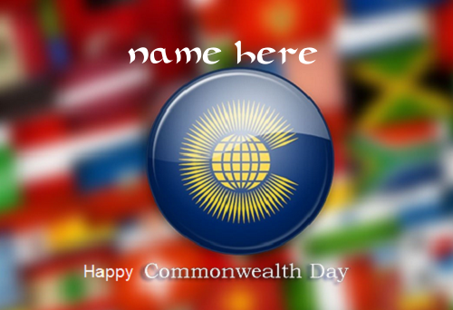 Photo of Write name on happy commonwealth day
