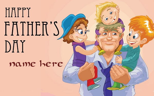 Photo of Add name on happy father day wishes