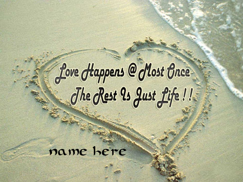 Photo of Write name on love quote on beach