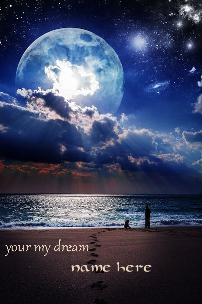 Photo of write your lover name on dream land