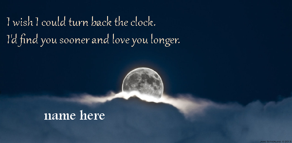 Photo of write your name on clock of love