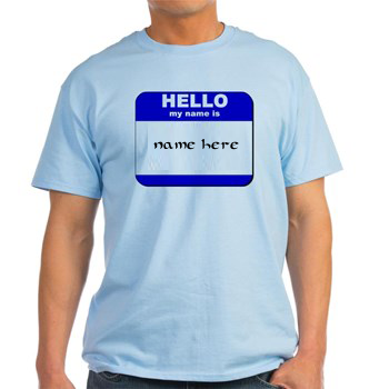 Photo of write your name on your shirt