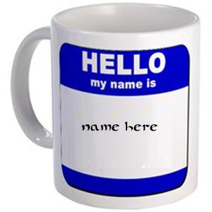 Photo of write your name on your mug