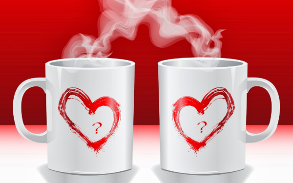 Photo of write yours two characters on lover mug