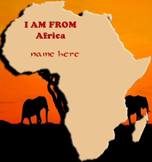 Photo of write your name on Africa map