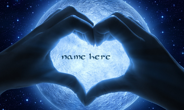 Photo of write your lover name on moon lovers