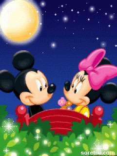 Photo of write your names on mickey and Minnie lovers GIF photo