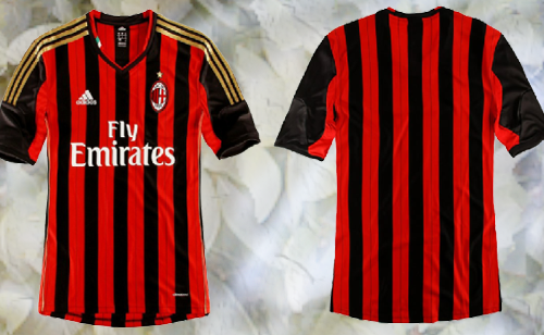 Photo of write your name and Your favorite number on ac Milan shirt gif photo