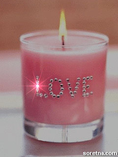 Photo of write your sweetheart name on candle of lover gif