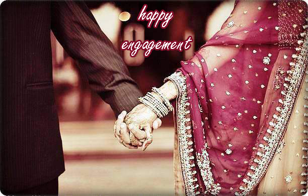 Photo of write your name on happy Indian Engagement
