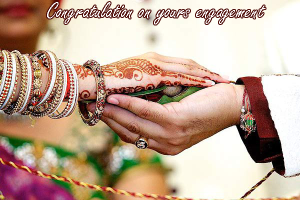 Photo of write your friends name on indian congratulations engagement