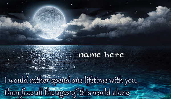 Photo of write your lover name on face the world for you