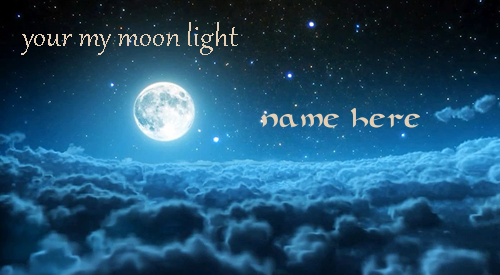Photo of write your love name on your my moon light