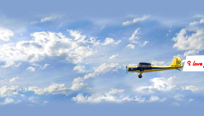 Photo of write your name on flying plane with banner gif images