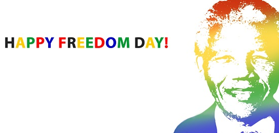 Photo of write your name on happy freedom day south africa
